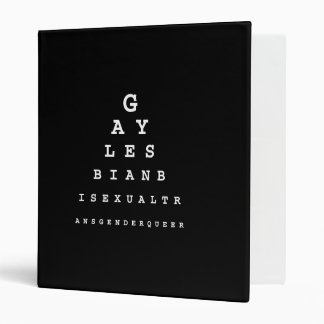 Gay Eye Chart  (Pickup Line) Vinyl Binder
