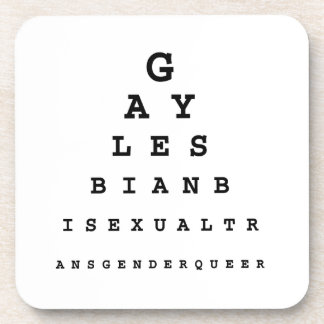 Gay Eye Chart .png Drink Coaster