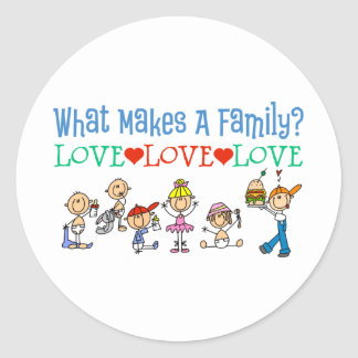 Gay Families Classic Round Sticker