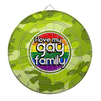 Gay Family; bright green camo, camouflage Dartboards