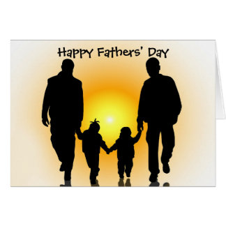 Gay Fathers' Day Card for Younger Children
