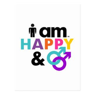 Gay feliz y LBGT aceptable Postal