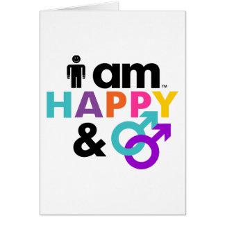 Gay feliz y LBGT aceptable Tarjeta De Felicitación