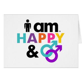 Gay feliz y LGBT aceptable Tarjeta De Felicitación