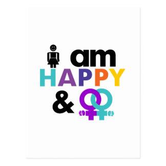 Gay feliz y LGBT aceptable Tarjetas Postales