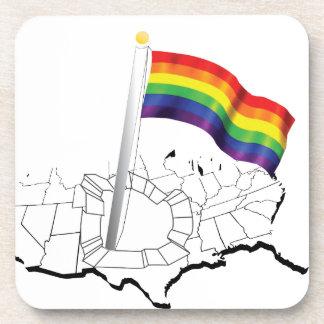 Gay Flag Beverage Coaster