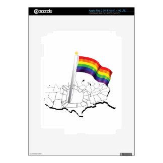 Gay Flag in USA iPad 3 Skin