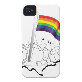 Gay Flag in USA iPhone 4 Case