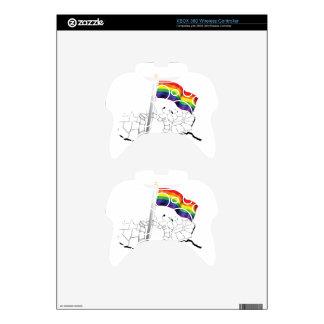 Gay Flag in USA Xbox 360 Controller Skin