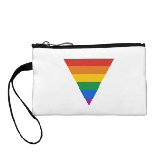 GAY FLAG TRIANGLE CHANGE PURSES