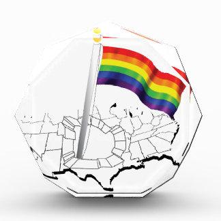 Gay Flag USA Acrylic Award