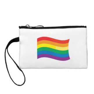GAY FLAG WAVING COIN WALLET