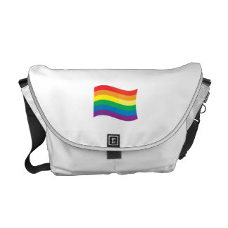 GAY FLAG WAVING COURIER BAG