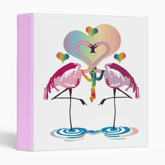 Gay Flamingos Binder