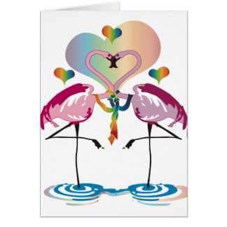 Gay Flamingos Cards