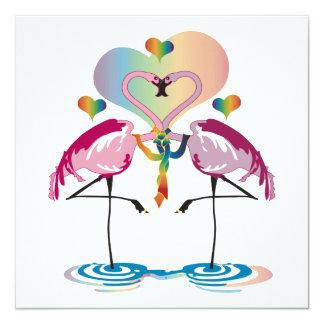 Gay Flamingos Invitations