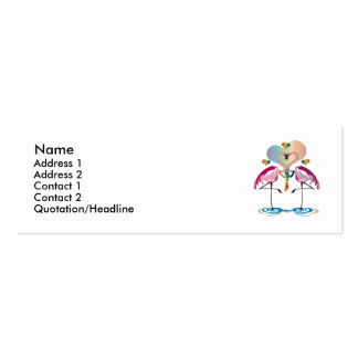 Gay Flamingos Profile Cards Business Cards