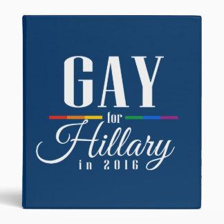 GAY FOR HILLARY VINYL BINDERS