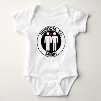 Gay Freedom To Marry Baby Bodysuit