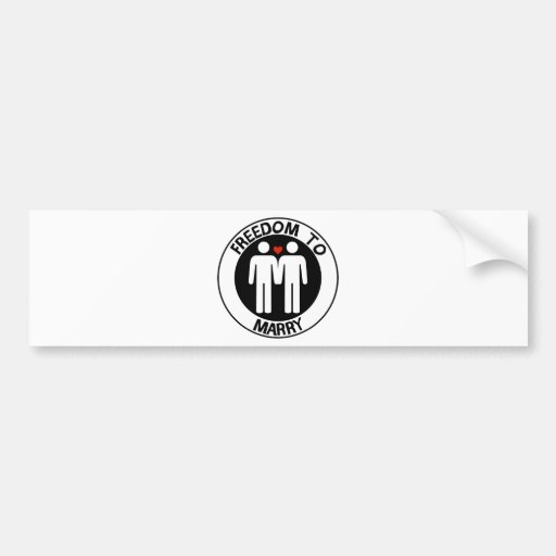 Gay Freedom To Marry Bumper Sticker