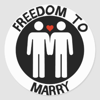 Gay Freedom To Marry Classic Round Sticker
