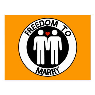 Gay Freedom To Marry Postcard