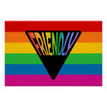 Gay Friendly Triangle Poster