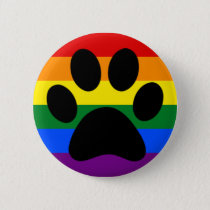 Gay furry pride pinback button