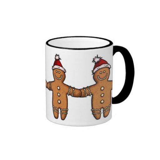 gay gingerbread couple mug