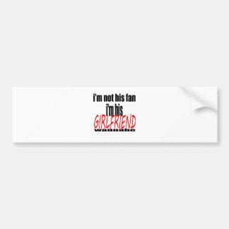 gay girlfriend #i'mgayitsprettyunfortunate louis d bumper sticker