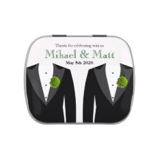 Gay Green Carnation Wedding - Jelly Belly Favors Candy Tin at Zazzle