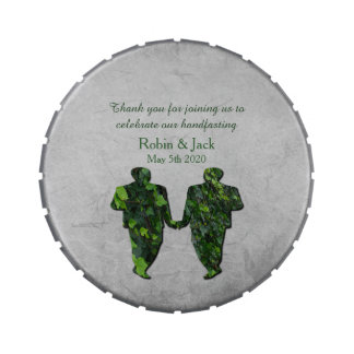 Gay Green Men Ivy & Silver Jelly Belly Snap Tin Candy Tin