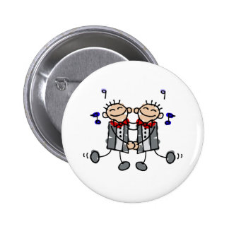 Gay Grooms first dance Pinback Button