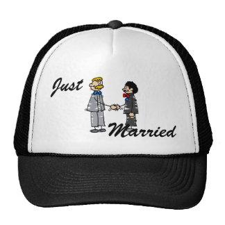 Gay Grooms Marry Trucker Hat