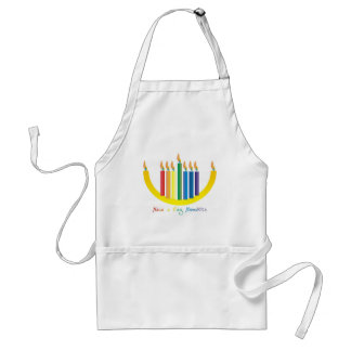 Gay Hanukka Adult Apron