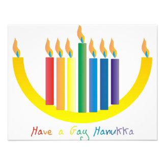 Gay Hanukka Personalized Announcement
