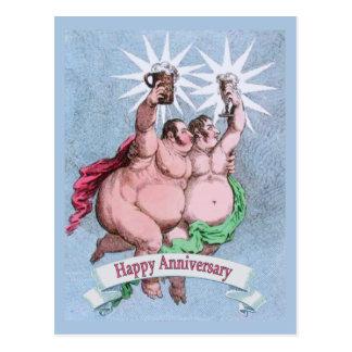 Gay Happy Anniversary Postcard