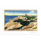 Gay Head Cliffs and Life Saving Station View Postcard