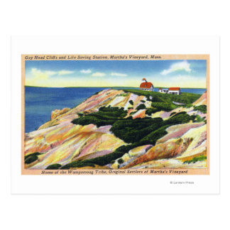 Gay Head Cliffs and Life Saving Station View Postcard