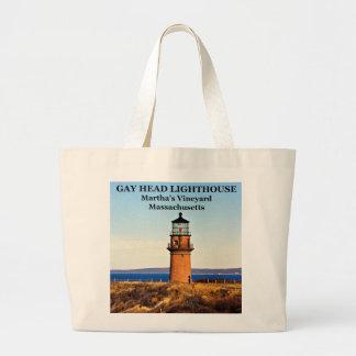 Gay Head Lighthouse, Martha's Vineyard MA Large Tote Bag