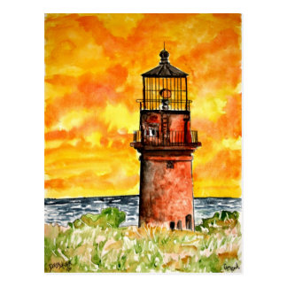 gay head lighthouse marthas vineyard Postcard