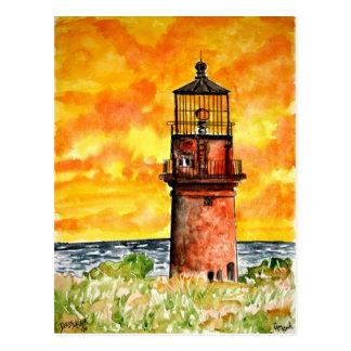 gay head lighthouse marthas vineyard Postcard