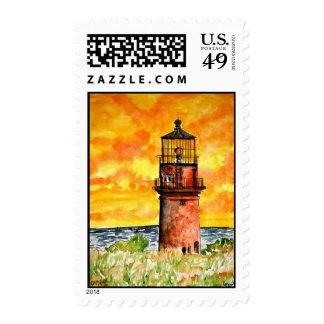 gay head lighthouse marthas vineyard Stamps