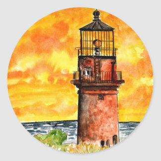 gay head lighthouse marthas vineyard Sticker