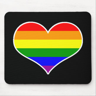 Gay Heart Mousepad (rainbow)