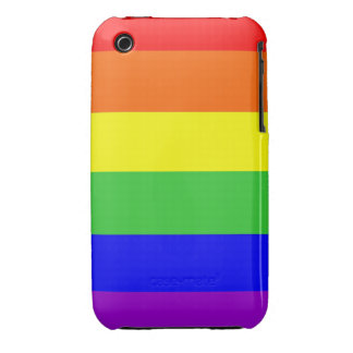 gay homosexual lesbian proud rainbow colors flag Case-Mate iPhone 3 cases