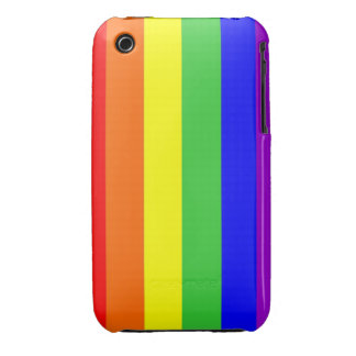 gay homosexual lesbian proud rainbow colors flag iPhone 3 covers