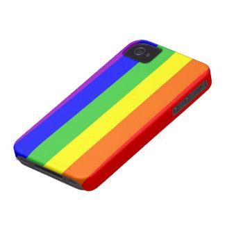 gay homosexual lesbian proud rainbow colors flag iPhone 4 case