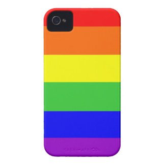 gay homosexual lesbian proud rainbow colors flag iPhone 4 Case-Mate case