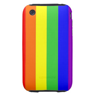 gay homosexual lesbian proud rainbow colors flag tough iPhone 3 cover
